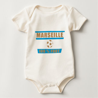 Marseilles football baby bodysuit