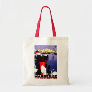 Marseilles, France Vintage Travel Tote Bag