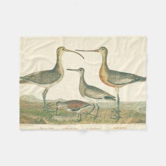 Marsh Birds Curlew Snipe Wetland Fleece Blanket