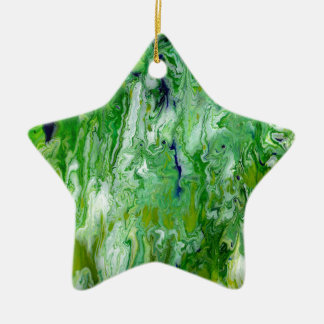 Marsh Faeries Abstract Ceramic Star Ornament