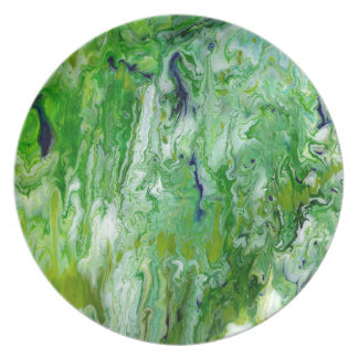 Marsh Faeries Abstract Party Plates