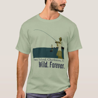Marsh Fishing on Dewees Island - Blue Water T-Shirt