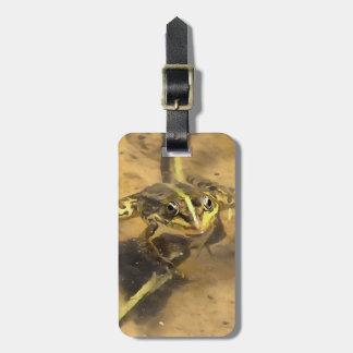 Marsh Frog Luggage Tag