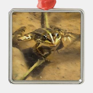 Marsh Frog Metal Ornament