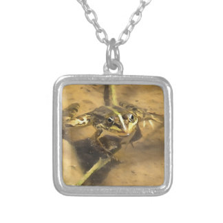 Marsh Frog Silver Plated Necklace