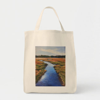 Marsh view on grocery tote