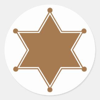 Marshal Badge Classic Round Sticker