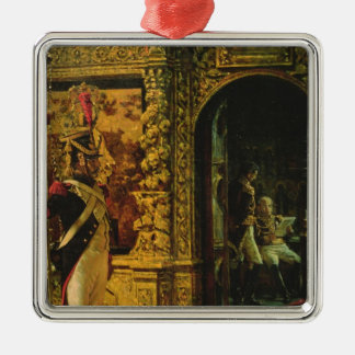 Marshal Davout in the Chudov Monastery Silver-Colored Square Ornament