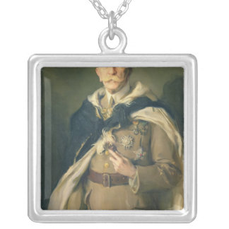 Marshal Louis Hubert Gonzalve Lyautey  1929 Silver Plated Necklace