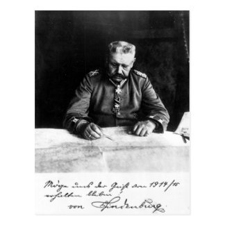 Marshal Paul von Hindenburg, 1914 Postcard