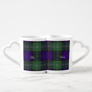 Marshall clan Plaid Scottish kilt tartan Coffee Mug Set