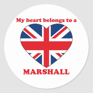 Marshall Classic Round Sticker