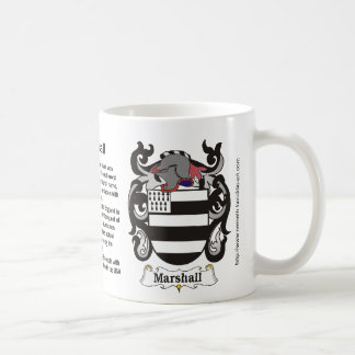 Marshall Family Crest on a mug