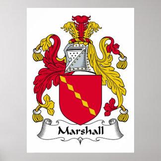 Marshall Family Crest Poster