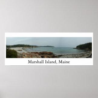 Marshall Island Beach Maine Poster