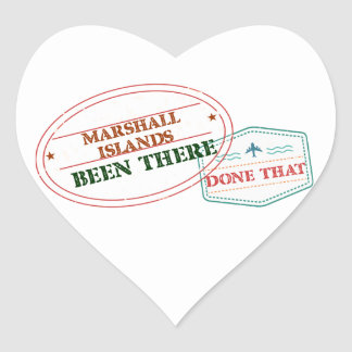 Marshall Islands Been There Done That Heart Sticker