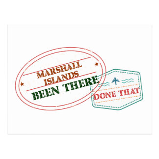 Marshall Islands Been There Done That Postcard