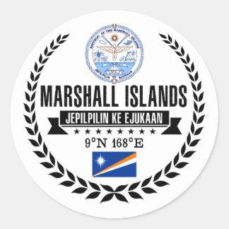 Marshall Islands Classic Round Sticker