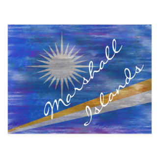 Marshall Islands distressed flag Postcard