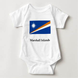 Marshall Islands Flag And Name Baby Bodysuit