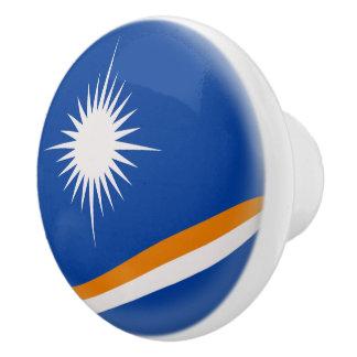 Marshall Islands Flag Ceramic Knob