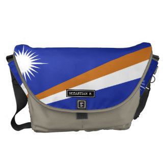 Marshall Islands Flag Messenger Bags