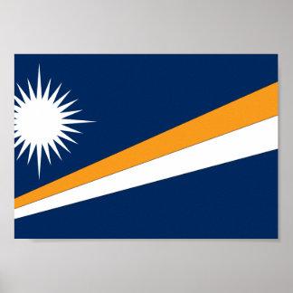 Marshall Islands Flag Poster