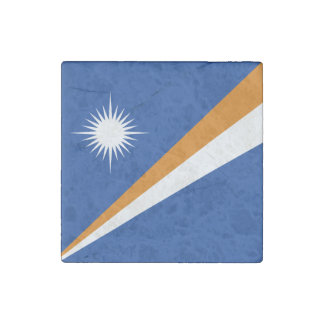 Marshall Islands Flag Stone Magnets
