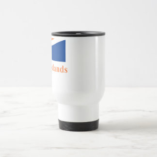 Marshall Islands Flag with Name Travel Mug