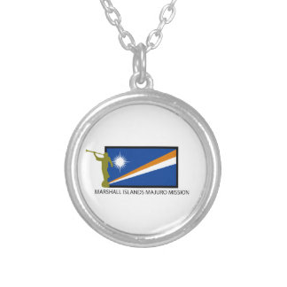 MARSHALL ISLANDS MAJURO MISSION LDS CTR SILVER PLATED NECKLACE