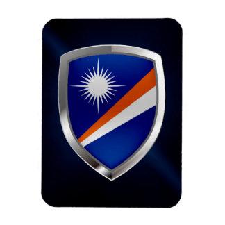 Marshall Islands Metallic Emblem Magnet