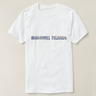 Marshall Islands Typography Flag Colors T-Shirt