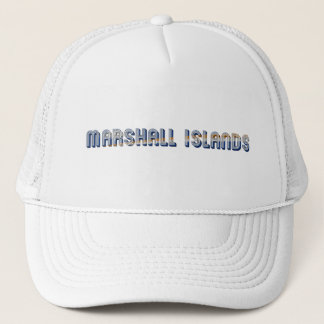 Marshall Islands Typography Flag Colors Trucker Hat
