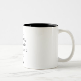 Marshall McLuhan I don't necessarily agree... Two-Tone Coffee Mug