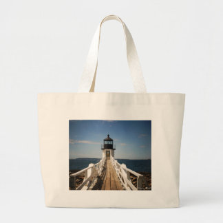 Marshall Point Lighthouse Large Tote Bag