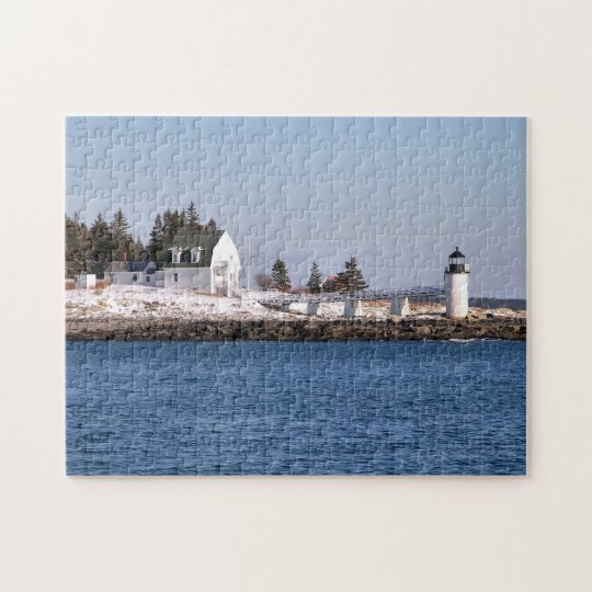 Marshall Point Lighthouse, Port Clyde Maine Jigsaw Puzzle