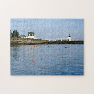 Marshall Point Lighthouse, Port Clyde Maine Jigsaw Puzzle