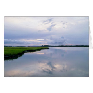 Marshland Sunset Card
