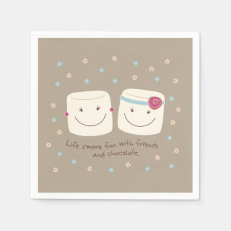 Marshmallow Friends and Chocolate Napkins Disposable Napkin