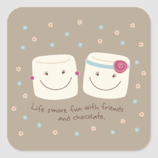 Marshmallow Friends and Chocolate Stickers