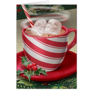Marshmallow Hot Tub Card