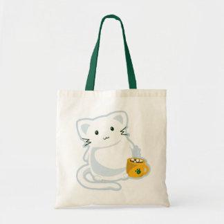 Marshmallow Kitn Tote Bag