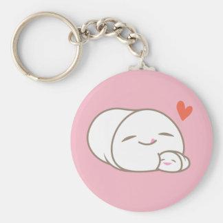 Marshmallow Love Keychain