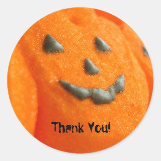 Marshmallow Pumpkin Thank You Halloween Sticker