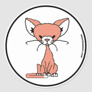 Marshmallow the Cat Sticker (Meet the Mews)
