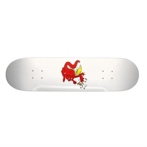 Marshmallow Toasting Dragon Skate Deck