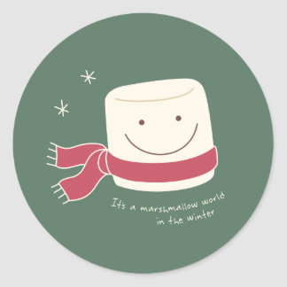 Marshmallow World Christmas Stickers