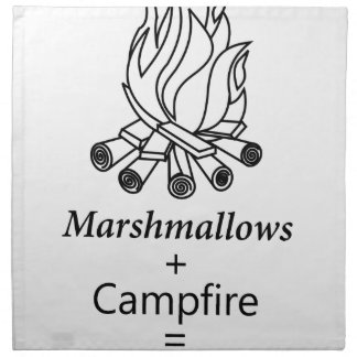 Marshmallows + Campfire = Yay! Napkin