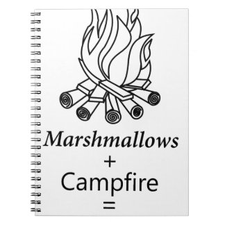 Marshmallows + Campfire = Yay! Notebook