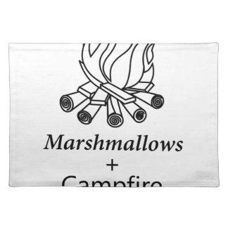 Marshmallows + Campfire = Yay! Place Mat